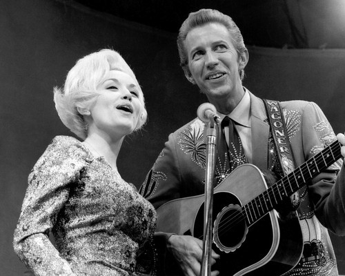 This is an image of Prints & Posters of Dolly Parton and Porter Waggoner 107304