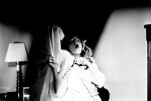 Halloween 1978 Michael Myers in bedsheet strangles P.J. Soles 8x12 inch photo