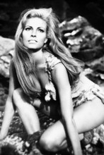 Raquel Welch as Loana crouching down fur bikini One Million Years BC 8x12 photo
