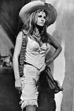 Raquel Welch in bustiere & mexican hat with gunbelt 100 Rifles 8x12 inch photo
