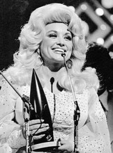Dolly Parton accepting country music award 1970's 8x12 inch photo