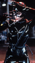 Michelle Pfeiffer strikes a pose in black leather as Catwoman 8x12 photo