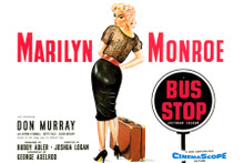 Marilyn Monroe Bust Stop movie poster artwork 8x12 inch real photograph
