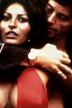 Pam Grier with huge cleavage Foxy Brown close-up in red dress 8x12 inch photo