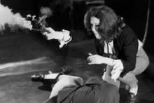Diana Rigg as Emma Peel firing gun The Avengers TV series 8x12 inch real photo