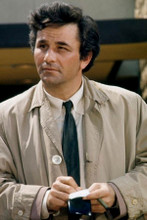 Peter Falk 1970's Columbo holding notebook 8x12 inch real photograph