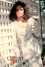 Diana Ross 1960's pose in silver sequined pant suit 8x12 inch real photograph