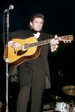 Johnny Cash 1969 iconic full length playing guitar in concert 8x12 press photo