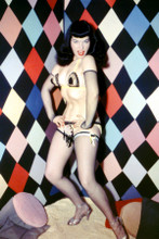 Bettie Page full length pin-up pose doing belly dance 8x12 inch real photograph