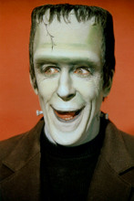 Fred Gwynne as Herman Munster smiling studio publicity pose 8x12 inch real photo