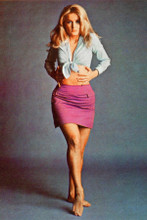 Barbara Bouchet full length pose with bare midriff 1960's 8x12 inch real photo