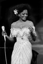 Diana Ross 8x12 inch press photo in concert circa 1970's 8x12 inch photo