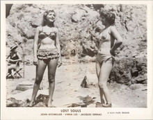 Virna Lisi in bikini on beach 1959 Lost Souls movie 5x7 inch photo