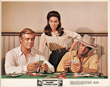 George Peppard Dean Martin play card game in saloon Rough Night in Jericho 5x7