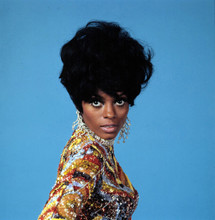 Diana Ross 1960's studio portrait in colorful sequined dress 5x7 photo