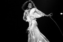 Diana Ross in sequined gown walking across stage 5x7 photo