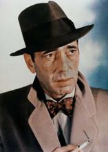 Humphrey Bogart in fedora hat & overcoat holding cigarette 5x7 inch photo