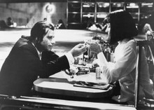Pulp Fiction John Travolta Uma Thurman in Jack Rabbit Slims 5x7 inch photo