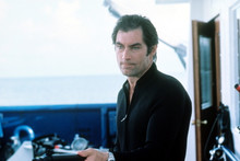 Timothy Dalton, The Living Daylights in wet suit with speargun 4x6 photo