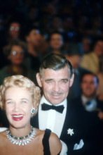 Clark Gable, Rare shot with wife at premiere 4x6 photo