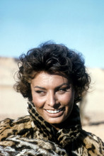 Sophia Loren, Stunning on set candid from Legend Of The Lost 4x6 photograph