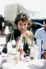 Sophia Loren,  rare on set Legend of the Lost having lunch 4x6 photo