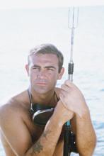 Thunderball, Sean Connery barechested as Bond with harpoon gun 4x6 photo