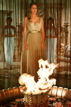 Ursula Andress in front of eternal flame She 1965 4x6 inch real photograph