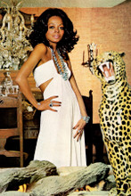 Diana Ross 1972 pose in white dress 4x6 inch real photograph