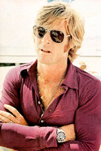 Robert Redford candid 1970's pose in sunglasses 4x6 inch real photograph