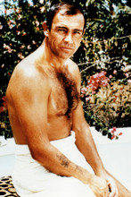 Sean Connery macho beefcake pose with hairy chest 007 4x6 inch real glossy photo
