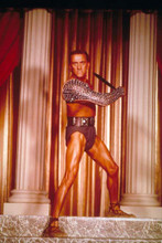 Kirk Douglas in macho stance with sword as Spartacus 4x6 inch real photograph