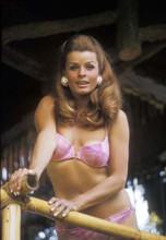 Senta Berger smiling 1960's pose in pink bikini 4x6 inch photo