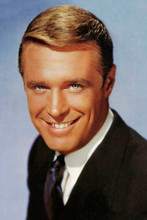 George Peppard smiling studio portrait in suit Breakfast at Tiffany's  4x6 photo