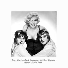 Some Like it Hot 12x12 Poster Marilyn Monroe Tony Curtis Jack Lemmon