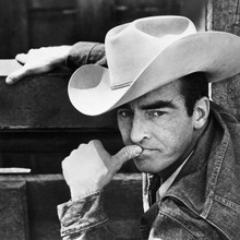 Montgomery Clift classic pose in stetson The Misfts 12x12 inch photograph