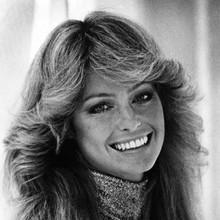 Farrah Fawcett iconic smiling portrait 12x12 inch photograph Logan's Run 1976