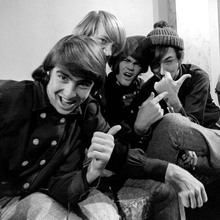 The Monkees cool pose of Davy Michael Micky & Peter doing thumbs up 12x12 photo
