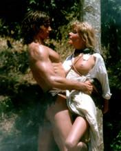Tarzan 1981 Bo Derek breast exposed tied to tree Miles O'Keefer 12x18 Poster