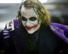 Heath Ledger as Joker holding joker card The Dark Knight 12x18 inch Poster
