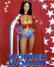 Wonder Woman TV Series Lynda Carter busty in outfit & cape 12x18 Poster w.logo
