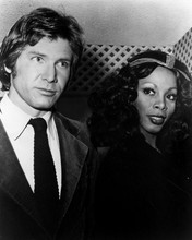 Donna Summer candid rare 1970's pose with Harrison Ford 12x18  Poster