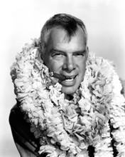 Donovan's Reef Lee Marvin classic pose smiling with cigar and lei 12x18  Poster