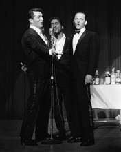 Frank Sinatra Dean Martin Sammy Davis Jnr Rat Pack on stage 1960's 12x18  Poster