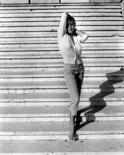Ursula Andress full length glamour pose in white shirt & jeans 12x18  Poster