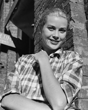 Grace Kelly smiling pose in checkered blouse 12x18  Poster