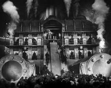 Metropolis atmospheric scene of the factory at work 12x18  Poster