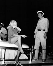 Assault on a Queen Frank Sinatra Virna Lisi on set 12x18  Poster