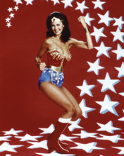 Wonder Woman Lynda Carter full length in costume fist in air 12x18  Poster