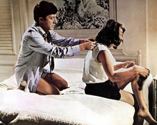 The Graduate Dustin Hoffman Anne Bancroft on bed together 12x18  Poster
